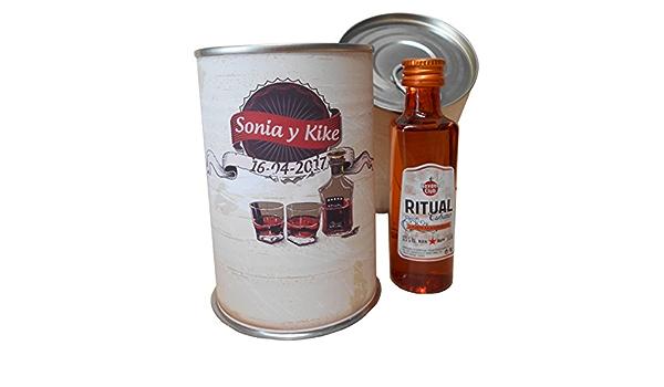 Botellin miniatura Ron Ritual en lata personalizada - Pack de ...