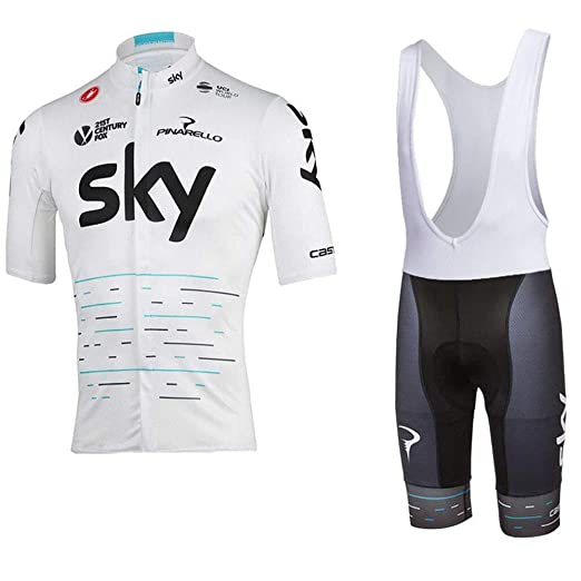 HAIHF Maillot Ciclismo Hombre, Conjunto Ropa Equipacion Traje Ciclismo Hombre para Verano, Maillot Ciclismo Hombre+Culotte Ciclismo Culote Bicicleta