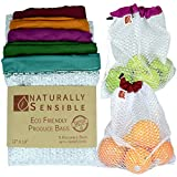 The Original Eco Friendly See Through Washable and Reusable Produce Bags - Soft Premium Lightweight...