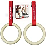 Fury Fitness Olympic Rings - Gymnastics and CrossFit - Made of Real High-Grade Wood - Use these Rings for Home or Gym Exercise Workouts