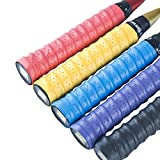 Senston New Racket Grip Anti Slip Perforated Super Absorbent Tennis Overgrip Badminton Overgrip Pickleball Overgrip.5 Pack.