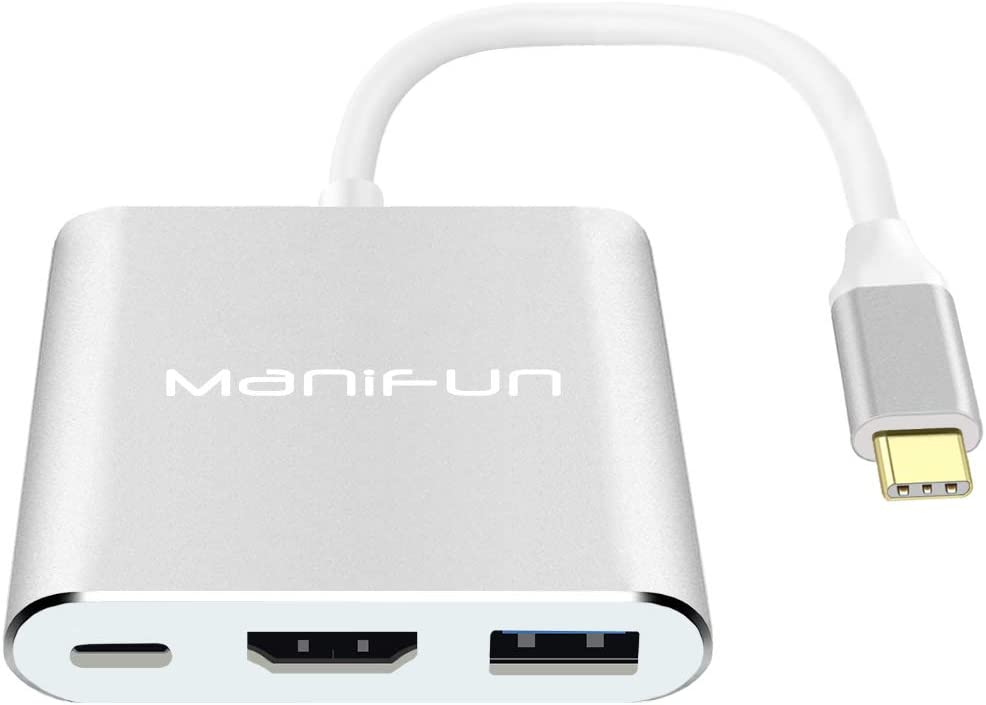 USB-C to HDMI Adapter for MacBook Air//MacBook Pro//ipad pro//Galaxy S10//S9//Surface Book 2//Go//Pro 7 Gray USB C to HDMI Multiport Adapter,Type C Hub to 4K HDMI with USB 3.0 Port and USB C Charging Port