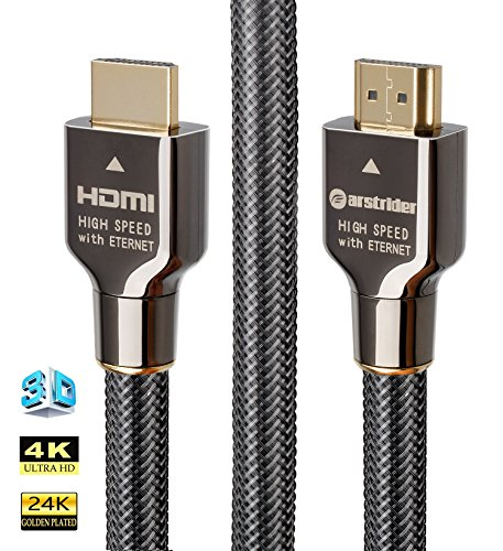 4K HDMI Cable/HDMI Cord 10ft - Ultra HD 4K Ready HDMI 2.0 (4K@60Hz 4:4:4) - High Speed 18Gbps - 28AWG Braided Cord-Ethernet/3D/HDR/ARC/CEC/HDCP 2.2/CL3 - Xbox PS4 PC HDTV by (3d Ready 1080p Hdtv)