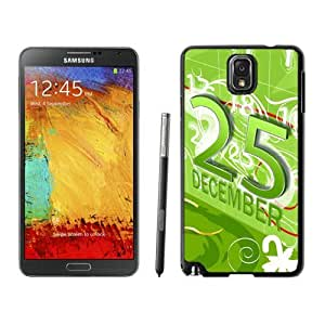 Customized Portfolio Merry Christmas Black Samsung Galaxy Note 3 Case 56