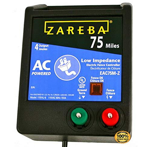 ArtMuseKit EAC75M-Z 75-Mile AC Low Impedance Electric Fence Charger