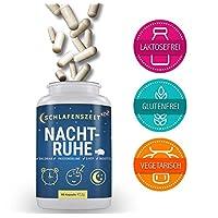 Nachtruhe - Premium Schlaf-Supplement To-Go mit 5-HTP - 60 Kapseln - Schlafoptimierer bei Schlafproblemen - Entspannung & besserer Schlaf