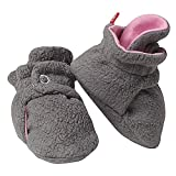 Zutano Booties Girls Cozie Fleece Baby Bootie Winter Socks Grey Pink 18M