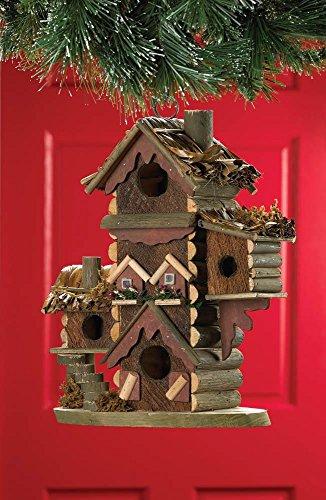 Wood Bird House Kits, Hanging Outdoor Chickadee Gingerbread-Style ()