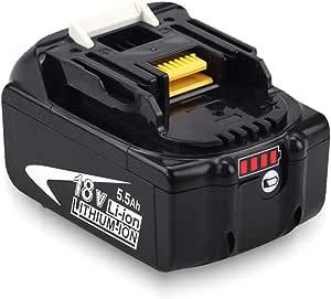 BL1860B de Repuesto para Makita Batería 18V BL1860 BL1850 BL1850B BL1830 BL1830B BL1840 BL1815 BL1825 BL1835 BL1845 LXT400 con indicador FUNMALL