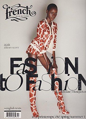 FRENCH revue de modes Magazine #22 SPRING/SUMMER 2013, ajak,JEREMY - Scott Store Jeremy