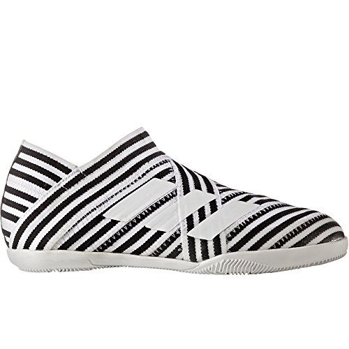 adidas Kids' Nemeziz 17+ 360AGILITY IN Junior Indoor Soccer Shoes (Sz. 5) White, Black by adidas