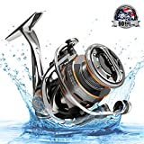 Cadence CS8 Spinning Reel, Ultralight Fast Speed Premium Magnesium Frame Fishing Reel with 10 Low Torque Bearings Super Smooth Powerful Fishing Reel with 36 LBs Max Drag & 6.2:1 Spinning Reel