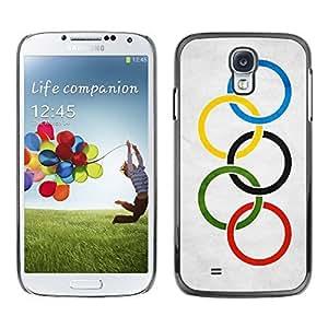 Shell-Star ( National Flag Series-Olympic Flag ) Snap On Hard Protective Case For Samsung Galaxy S4 IV (I9500 / I9505 / I9505G) / SGH-i337
