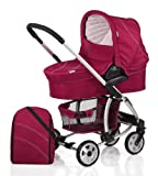 Hauck 2011 Malibu Stroller w/ Bassinet and Stand **CLOSEOUT** - Plum