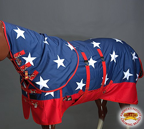 HILASON 78'' 1200D Waterproof Winter Horse Blanket Neck Cover Belly WRAP US Flag by HILASON (Image #2)