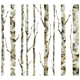 York Wallcoverings Enchanted Forest Birch Removable Wallpaper