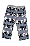 Disney Classic Mickey Mouse Womens Pajama Pants - Mickey Head Print - Grey