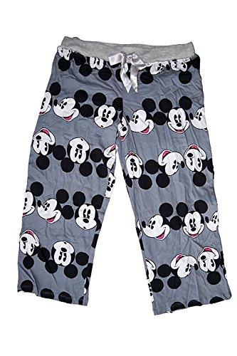 Disney Classic Mickey Mouse Womens Pajama Pants - Mickey Head Print - Grey by Disney