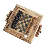 Naturally Med - Olive Wood Chess Set - Square