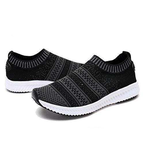 (DREAM PAIRS Little Kid 170379-K Black Dark Grey Comfort Loafer Shoes Sneakers - 13 M US Little Kid)