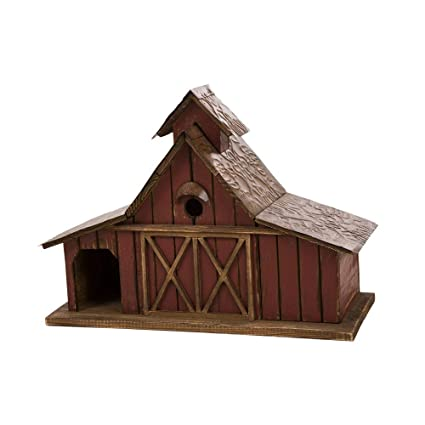Large Outdoor Bird Houses.Glitzhome 20 67 L Birdhouse For Outside Rustic Wood Barn Design Extra Large Hand Painted Bird Houses