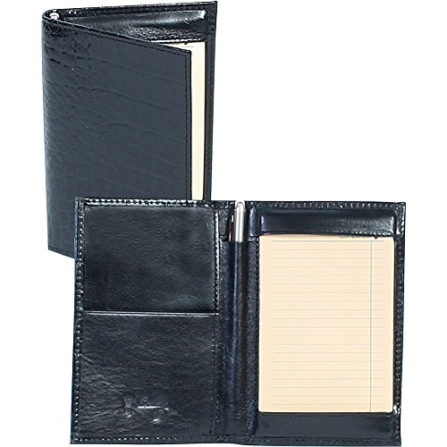 Scully Croco Embossed Leather Folded Note Jotter (Croco Black)