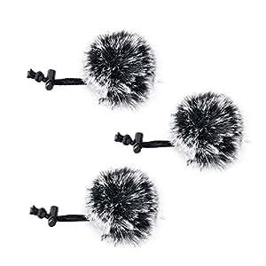 Comica CVM-MF1(G) Outdoor Furry Microphone Wind Muff (Dead cat) for lavalier Lapel Microphone Comica Audio-Technica lavalier Clip on Lapel Microphone.(3 Pack) …