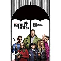 """Trends International, Netflix Umbrella Academy - Group Poster and Poster Clip Bundle Wall Poster, 22.375"""" x 34"""", Multi"""