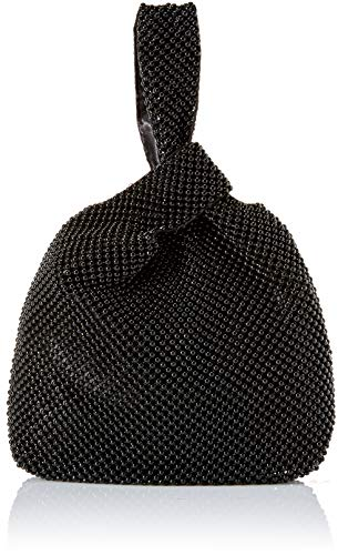 Jessica McClintock Logan Ball Mesh Evening Pouch, Black