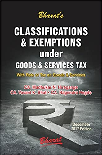 Classifications & Exemptions under Goods & Services Tax (with Rate of Tax on GST)