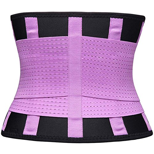 VENUZOR Waist Trainer Belt for Women - Waist Cincher Trimmer - Slimming Body Shaper Belt - Sport Girdle Belt (UP Graded) (Purple, XX-Large)