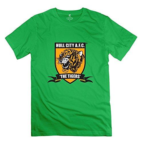 Yisw Men Hull City AFC Logo T-Shirt 100% Cotton Geek
