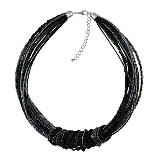 Bocar Chunky Statement Colorful Seed Beads Women Choker Collar Necklace