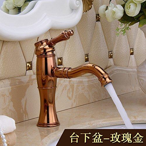 LSRHT Waschtischarmatur Wasserhahn Armatur Badezimmer Waschbecken Mischbatterie Osze-Kupfer Retro waschen uns Tb-06