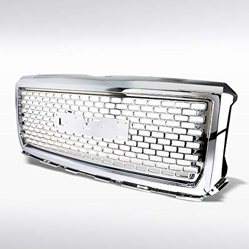 Autozensation For GMC Sierra 1500 2500 3500HD Chrome Round Style Front Upper Hood Grille ()