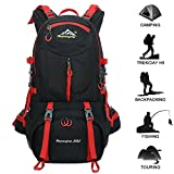 Hiking Backpack 50L Waterproof Huwaijianfeng Backpack Outdoor Sport Daypack with a Rain Cover for Climbing Mountaineering Fishing Travel Cycling