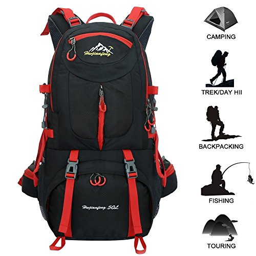 Travel Backpack Ucharge 50L Waterproof Hiking Backpack Outdoor ...