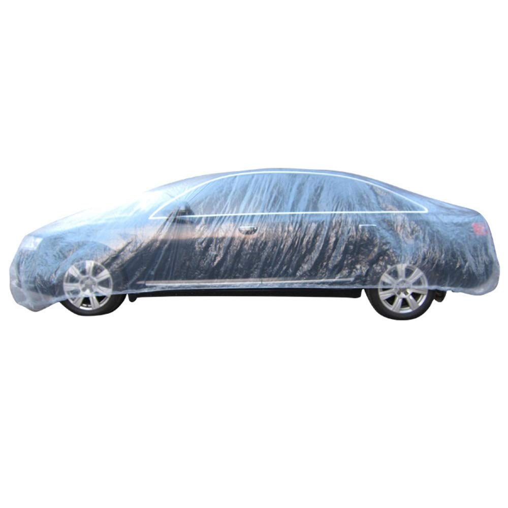 lecimo Clear Plastic Disposable Universal Car Covers Rain Dust Garage Cover Waterproof,3.6m6.5m by lecimo