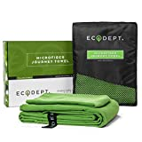 "ECOdept Microfiber Travel Towel - Large 52"" x 32"" with Free Hand/Face Cloth in Gift Box - Super Fast Quick Dry - Antibacterial - Best for Backpacking, Beach, Camping, Gym, Swimming and Sports"