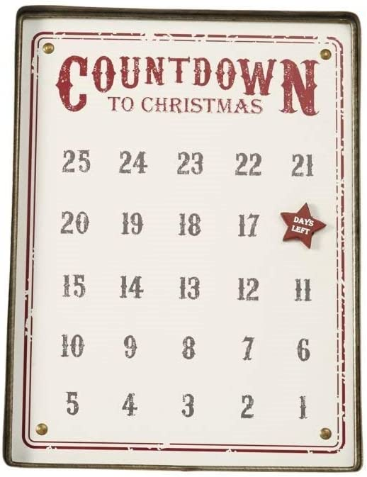 Mud Pie Distressed Tin Advent Calendar, Set of 2