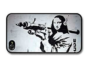 AMAF ? Accessories Banksy Mona Lisa rocket launcher case for iPhone 4 4s Street Art