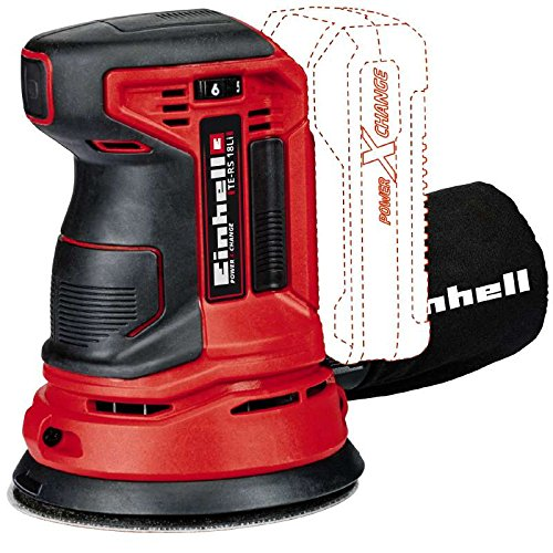 Einhell TE-RS 18 Li Solo Power X-Change Cordless Random Orbital Sander, 18 V, Red