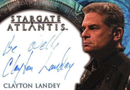 """Stargate: Atlantis Mellow 2 - Clayton Landey """"Colonel Dillon Everett"""" Autograph Card"""