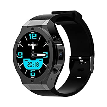 PINCHU Reloj inteligente para Android IOS 1GB + 16GB con WhatsApp 3G SIM WIFI GPS Cš¢mara Bluetooth 5MP Reloj inteligente para hombres, 1: Amazon.es: ...