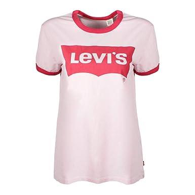 50605cfbaff9ca Levis Damen T-Shirt Perfect Ringer Tee 35793-0009 Rosa