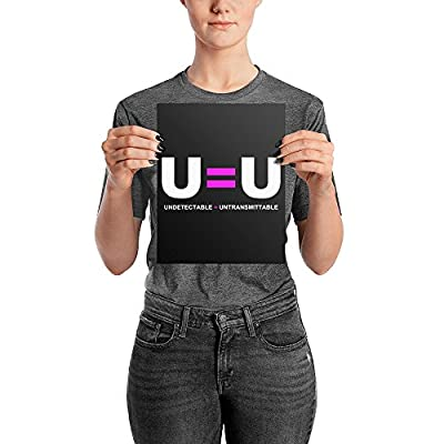 U Equals U HIV Untransmittable Undetectable Photo Paper Poster Wall Art Print