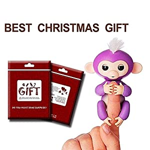 Fingerlings Interactive Baby Monkey - Little Monkey Best for Christmas Gift [Purple]