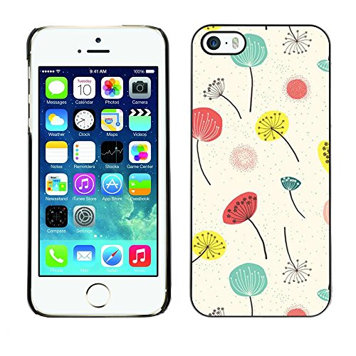 Soft Silicone Rubber Case Hard Cover Protective Accessory Compatible with Apple iPhone? 5 & 5S - poppy flowers white minimalist