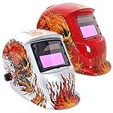 Fire Skull Solar Auto Darkening Welding Grinding Helmet Arc Tig mig Welders Mask 3 Color