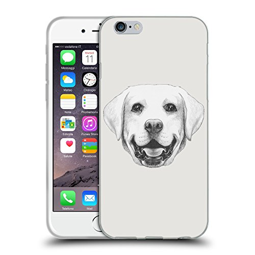 "GoGoMobile Coque de Protection TPU Silicone Case pour // Q05370631 Portrait labrador Platine // Apple iPhone 6 4.7"""